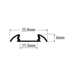 2 Meter SET LED Profil Aufbau Deco Standard 2m Grau APN215LX