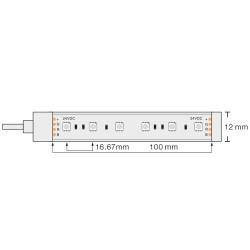 60SMD/m RGB Flex Streife 5050 SMDs 14W/m 1m 24V IP67 PREMIUM GL4323