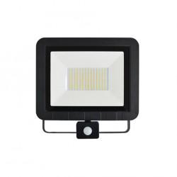 100W LED Strahler SMD IP65 BEWEGUNGSMELDER Schwarz Kalt-/Neutralweiß GL5228/GL5229