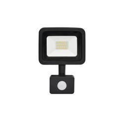 10W LED Strahler SMD IP65 BEWEGUNGSMELDER Schwarz Kalt-/Neutralweiß GL5230/GL5231