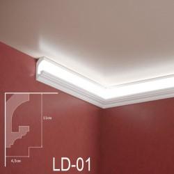 Zierprofil 1M für LED Beleuchtung LD01