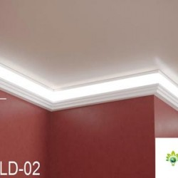Zierprofil 1M für LED Beleuchtung LD02