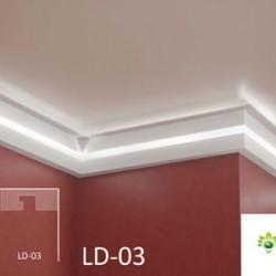 Zierprofil 1M für LED Beleuchtung LD03