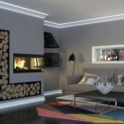 Zierprofil 1M für LED Beleuchtung Deckenleiste LD12