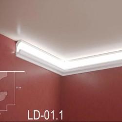 Zierprofil 1M für LED Beleuchtung LD01.1