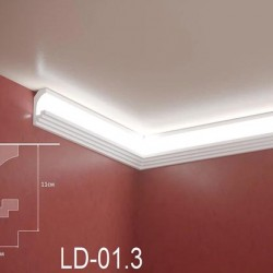 Zierprofil 1M für LED Beleuchtung LD01.3