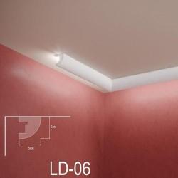 Zierprofil 1M für LED Beleuchtung Stuckleiste LD06