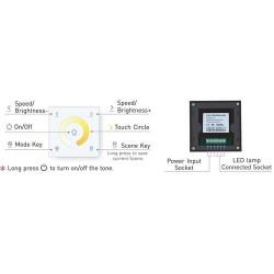 DUAL LED CCT Controller Touch Panel PREMIUM PRO SERIE für DUAL CCT LED Streifen PRO 5 Jahre Garantie GL2402CCT
